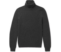 Distressed Wool And Cashmere-blend Rollneck Sweater