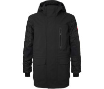 Selwyn Quilted Shell And Canvas Hooded Down Coat