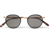 Wilson Round-frame Acetate And Gold-tone Sunglasses