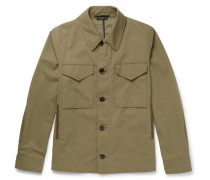 Cotton-blend Twill Field Jacket