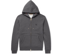 Fleece-back Cotton-blend Jersey Hoodie
