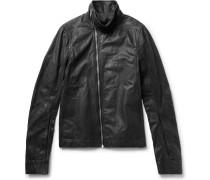 Mollino Slim-fit Matte-leather Biker Jacket