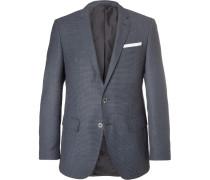 Blue Hutsons Slim-fit Virgin Wool Blazer