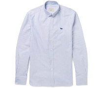 Button-down Collar Striped Cotton Oxford Shirt