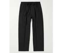 Julian Cotton and Silk-Blend Drawstring Trousers