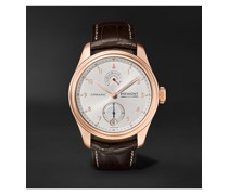 Supersonic Limited Edition Hand-Wound 43mm 18-Karat Rose Gold and Alligator Watch, Ref. No. SUPERSONIC/RG