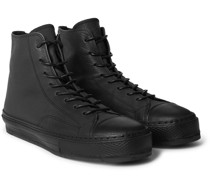 Full-Grain Leather High-Top Sneakers