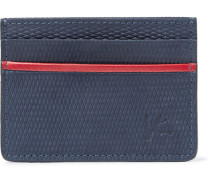 Textured-suede Cardholder