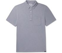Garment-Dyed Slub Cotton Polo Shirt