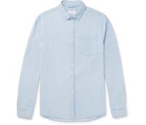 Crosby Slim-fit Button-down Collar Washed-denim Shirt