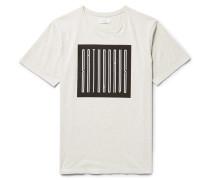 Super Condensed Printed Mélange Cotton-jersey T-shirt