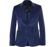 Blue Stan Slim-Fit Corduroy Suit Jacket