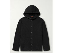 Cotton-Blend Jersey Hooded Jacket