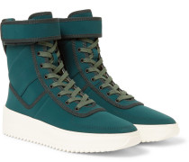 Military Nylon High-top Sneakers