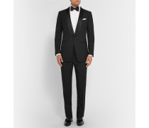 Black Slim-fit Mohair And Wool-blend Tuxedo