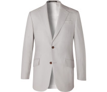Wool Gabardine Suit Jacket