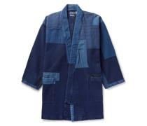 Sashiko Haori Patchwork Indigo-Dyed Cotton Jacket