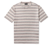 Slim-Fit Printed Silk and Cotton-Blend T-Shirt