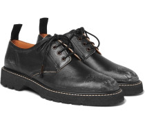 Distressed Leather Derby Shoes
