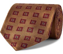 + Drake's 8cm Silk-Jacquard Tie