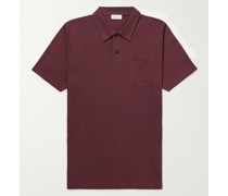 Riviera Slim-Fit Cotton-Mesh Polo Shirt