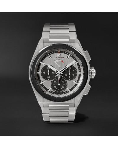 Defy El Primero 21 Automatic Chronograph 44mm Brushed-Titanium Watch, Ref. No. 95.9005.9004/01.M9000