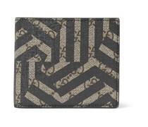 Geometric-Print Textured-Leather Billfold Wallet
