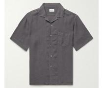 Palm Camp-Collar Slub Linen Shirt