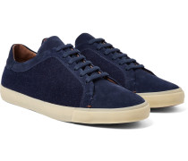 Freetime Winter Walk Cashmere-panelled Suede Sneakers