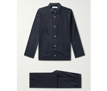 Brushed Cotton-Flannel Pyjama Set
