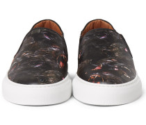 Monkey Brothers Printed Leather Slip-on Sneakers