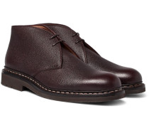 Genet Pebble-grain Leather Chukka Boots