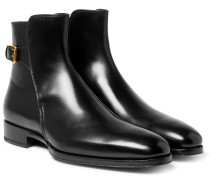Austin Polished-leather Jodhpur Boots