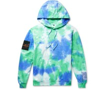 Unity Appliquéd Tie-Dyed Loopback Cotton-Jersey Hoodie
