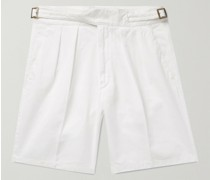 Manny Pleated Cotton-Twill Bermuda Shorts