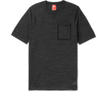 Mélange Tech Knit Cotton-blend T-shirt