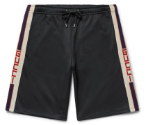 Jacquard-trimmed Jersey Shorts