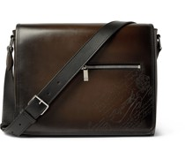 Scritto Leather Messenger Bag