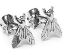 Fly Silver-tone Cufflinks