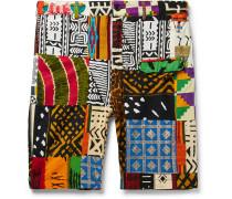 Patchwork Cotton Shorts