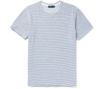 Slim-fit Striped Stretch-cotton Terry T-shirt