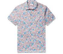 Camp-collar Floral-print Cotton Shirt