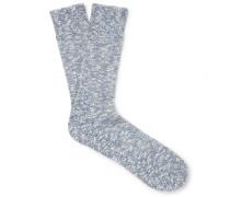 Ebbe Mélange Stretch Cotton-blend Socks