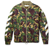 Printed Shell Bomber Jacket