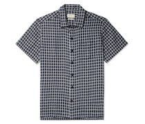 Embroidered Checked Cotton Shirt