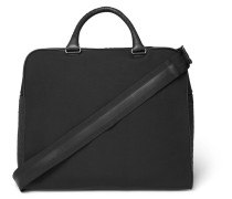 Intrecciato Leather-panelled Canvas Holdall