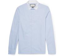 Penny-collar Cotton Oxford Shirt