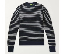 Slim-Fit Striped Cotton and Cashmere-Blend Sweater