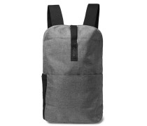 Dalston Small Leather-Trimmed Tex Nylon Ripstop Backpack