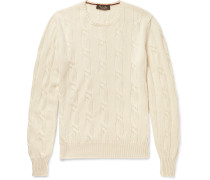 Jubilee Cable-knit Baby Cashmere Sweater